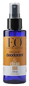 EO Organic Deodorant Spray, Citrus, 4 Fluid Ounce