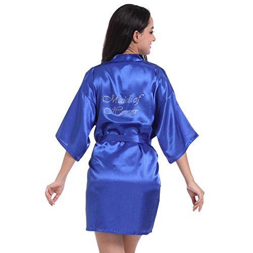 Blu Camicie d'onore da Pigiami e Damigella Vestaglie Notte Cristallo Reale Kimono BOYANN e P86Uqxn