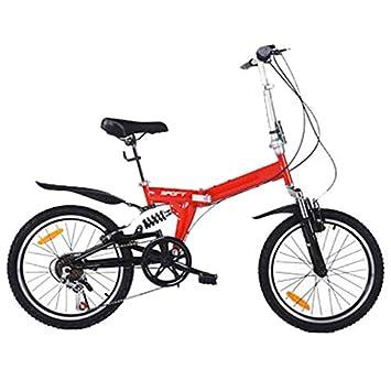LETFF Bicicleta Plegable para Adultos De 20 Pulgadas, Absorción De Choque De Velocidad Variable De