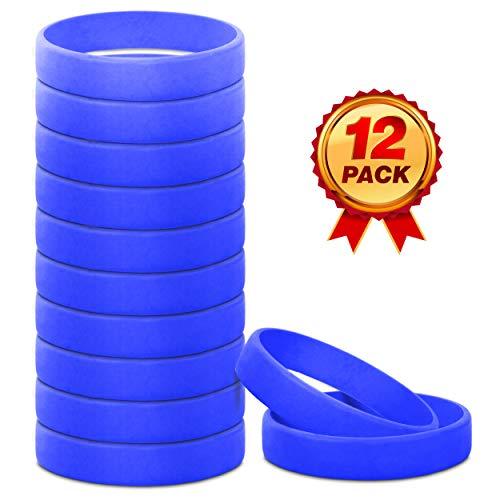 Go Party USA Blue Bracelet | Blue Rubber Bracelets | Blue Wrist Bands | Blue Wristbands (Adult)