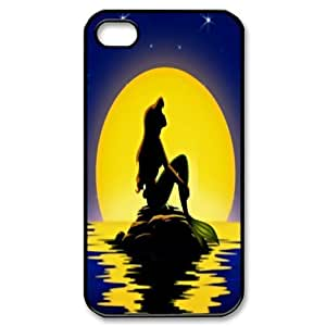 Mystic Zone Customized The Little Mermaid iPhone 4 Case for iPhone 4/4S Hard Cover lovely Cartoon Fits Case KEK0166