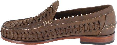 Florsheim Mens Berkley Weave Leather Chiuso Penny Penny Marrone