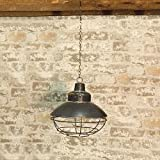 Heart of America Battery Operated Metal Hanging Antiqued Lantern