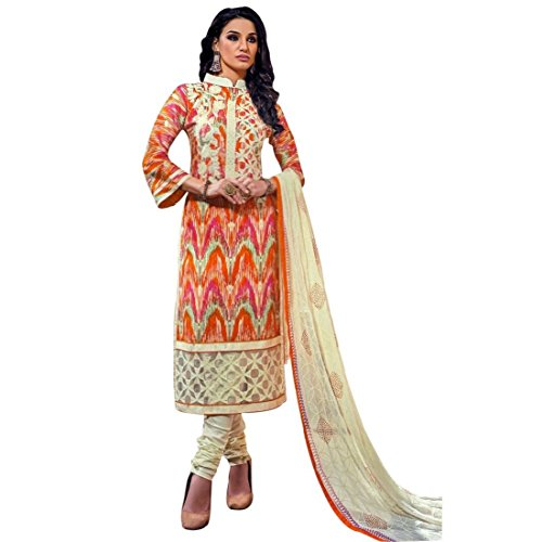 Ready To Wear Cotton Embroidered Printed Salwar Kameez Suit Indian – 0X Plus, Multicolor
