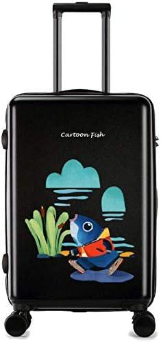 GaoMiTA Universal Wheel Trolley case Luggage Small Fresh 24 inch Suitcase Color : Black