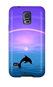 Pauline F. Martinez's Shop New Style Hot Tpu Cover Case For Galaxy/ S5 Case Cover Skin - Dolphins 4095343K38384369