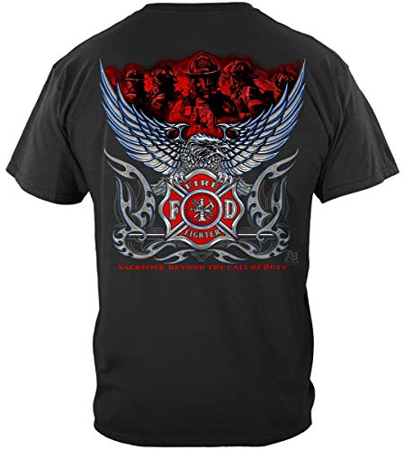 Firefighter T Shirt Elite Breed Chrome Eagle Firefighter