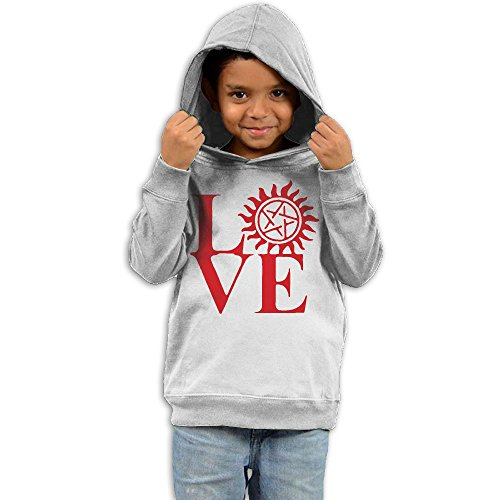 Love Supernatural Newest Unisex No Pocket Long-Sleeved Hoodie 100% Cotton Warm Kids Pullovers 2-6T For Boys & Girls