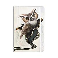 "KESS InHouse ""Lucid June"" Everything Notebook, Journal Graham Curran, Brown Owl (GC1022ANP01)"