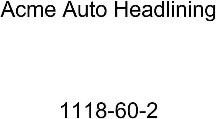 1941 Buick, Cadillac, Oldsmobile, Pontiac 4 Door Sedan - 8 Bows Acme Auto Headlining 1118-60-2 Black Replacement Headliner