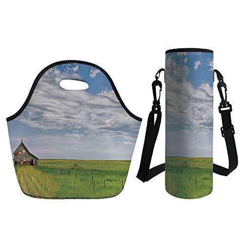 3D Print Neoprene lunch Bag with Kit Neoprene Bottle Cover,R