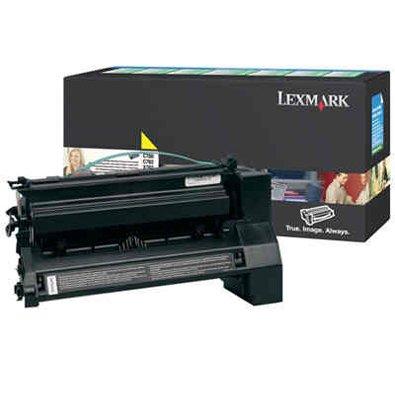LEXMARKC780/C782 YELLOW HIGH RETURN PRINT 10,000 Standard Pages (C782 Yellow Print Cartridge)