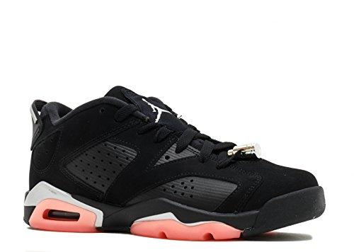 Nike Air Jordan 6 Retro Low GG Big Kid's Basketball Shoes Black/Sunblush, 6.5 by NIKE