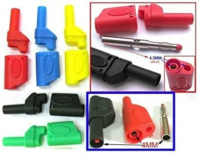 100 pcs Copper Seal Insulated Safety protection 4mm Banana Plug 5 Colors