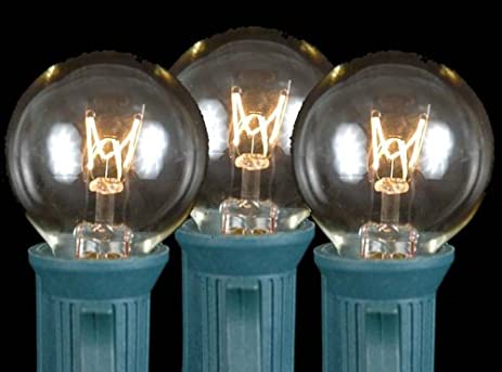 Novelty Lights 25 Pack G30 Outdoor String Light Globe Replacement Bulbs Clear C7/ & Amazon.com: Novelty Lights 25 Pack G30 Outdoor String Light Globe ... azcodes.com