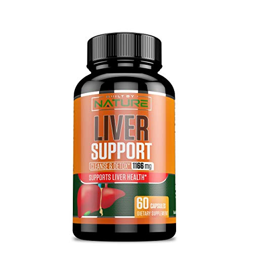 Liver Support - Cleanse Detox & Repair Formula - Detoxifier & Regenerator - 22 Herbs Support Supplement: Milk Thistle Extracts Silymarin, Beet, Artichoke, Dandelion, Chicory Root - Built By Nature