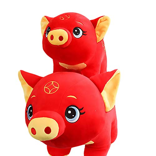 (Zhyaj Pig Doll,Comfortable Plush Doll, Cute Toys and Ornaments Material is Plush Filled with PP Cotton 26~32 cm Can be Used as a Gift or Pet Toy)
