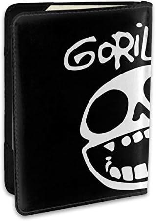 Gorillaz ゴリラズ パスポートケース パスポートカバー メンズ レディース パスポートバッグ ポーチ 収納カバー PUレザー 多機能収納ポケット 収納抜群 携帯便利 海外旅行 出張 クレジットカード 大容量
