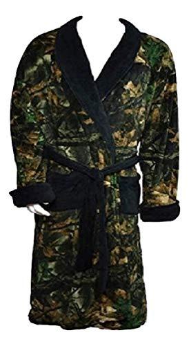 TrailCrest Camo with Black Accents Mens Robe 2931-13 (XL) (Camo Mens Bathrobes)