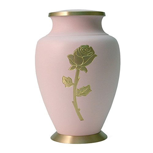 Cremation Funeral Urn for Human Ashes - Pink - Suitable for Burial - (Rose) -