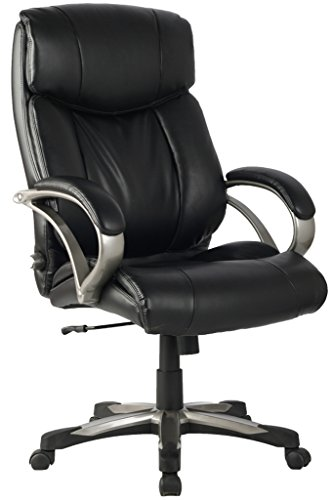 Ergonomic Leather Chair High Back with Adjustable Lumbar Support
