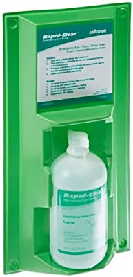 Sellstrom 90331 Rapid-Clear Personal Eyewash 16 oz Single Bottle Station