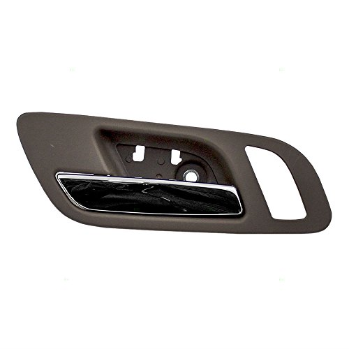 Truck Chrome Interior Door Handle - Drivers Front Inside Interior Door Handle Chrome Lever w/Cashmere Housing Replacement for GMC Cadillac Chevy Pickup Truck SUV 22855617 AutoAndArt