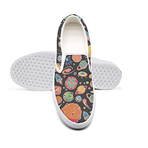 Colorful Alien Astronuat Rocket Sport Shoes Casual Slip-on for Girls