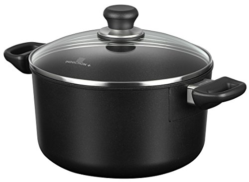 Scanpan Induction Plus Non-Stick Dutch Oven, 5 quart, Black