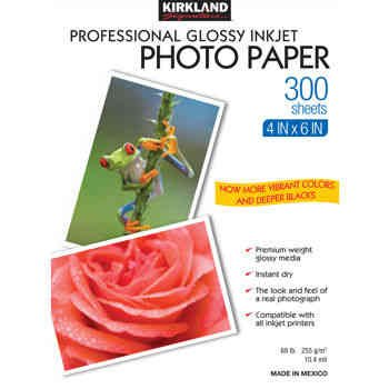 Kirkland Signature™ 4'' X 6'' Professional Glossy Photo Paper by Kirkland Signature