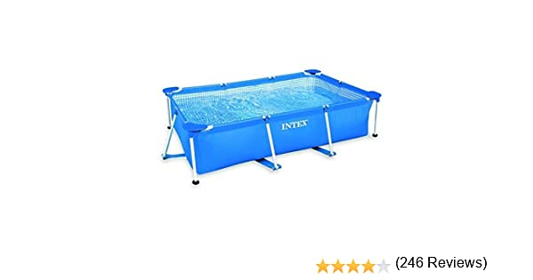 Intex - Kit de Piscina Rectangular, Azul, 3800 l, 300 x 200 x 75 ...