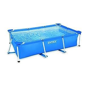 Intex - Kit de Piscina Rectangular, Azul, 3800 l, 300 x 200 x 75 cm