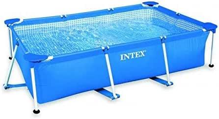 Intex - Kit de Piscina Rectangular, Azul, 3800 l, 300 x 200 x 75 cm: Amazon.es: Jardín