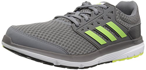 adidas Performance Men's Galaxy 3 m Running Shoe, Grey/Solar Yellow/Dark Grey, 12 M (Adidas Running Cushion)