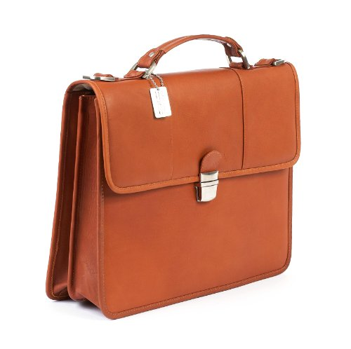 Claire Chase Briefcase, Saddle, One Size by ClaireChase