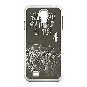 Band pierce the veil Quotes Custom Skidproof Printed case cover for Samsung Galaxy S4 I9500 White 022702