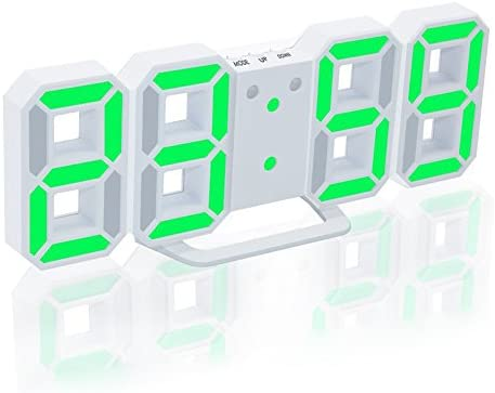 EAAGD Electronic LED Digital Alarm Clock Upgrade Version , Clock Can Adjust The LED Brightness Automatically in Night White Green