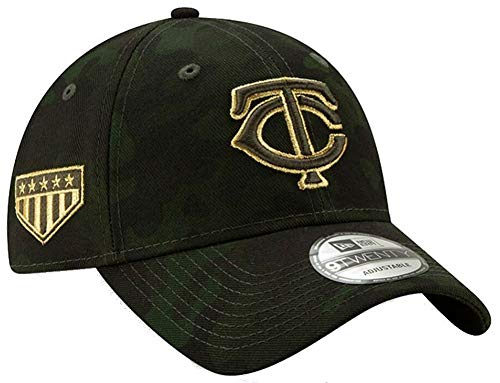 New Era 2019 MLB Minnesota Twins Arm Forces Day RIG Baseball Cap 9Twenty Green/Gold (Minnesota Twins Baseball Hat)