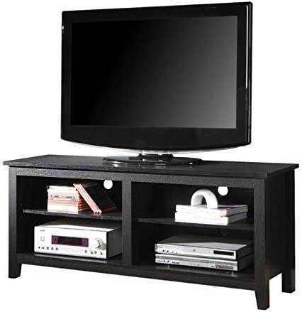 Pemberly Row 58 Wood TV Console in Black