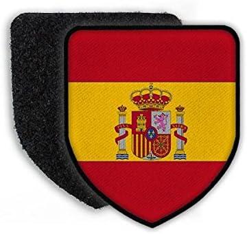 Copytec Patch Landeswappenpatch Spanien Madrid Fussball K/önig Felipe Wappen Fahne Flagge Krone #21972