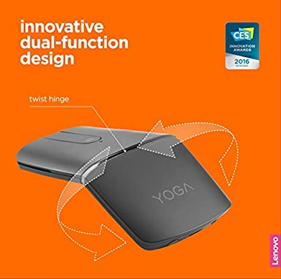 Lenovo Yoga Mouse - Ratón para Yoga (13,5 mm, rotable 180º ...
