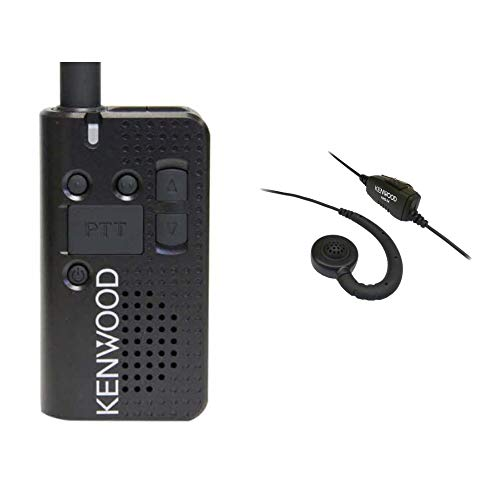 Kenwood PKT-23 UHF Radio with Earbud Hanger with PTT and Clip Microphone Bundle - Kenwood Radio Microphones