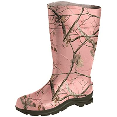 Ranger Field General PVC Women's Rain Boots, Realtree AP Pink Camo (18866): Home Improvement