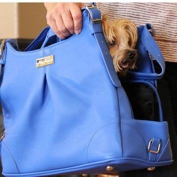 Blue Lapis Mia Michele Dog Carry Bag by MIA