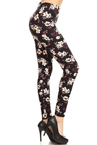 - 416AN3JpCNL - Leggings Depot Ultra Soft Women's Printed Fashion Leggings Batch24