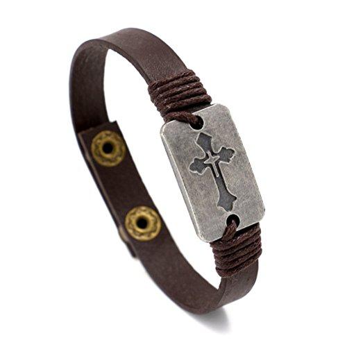 Bracelet Cross Men Vintage Wristbands product image