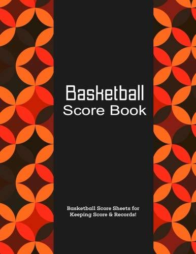 Basketball Score Book: Orange Pattern, Matte, 8.5