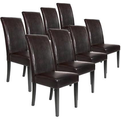 Lot Ensemble De 8 Chaises Pour Salle A Manger Salon En Cuir