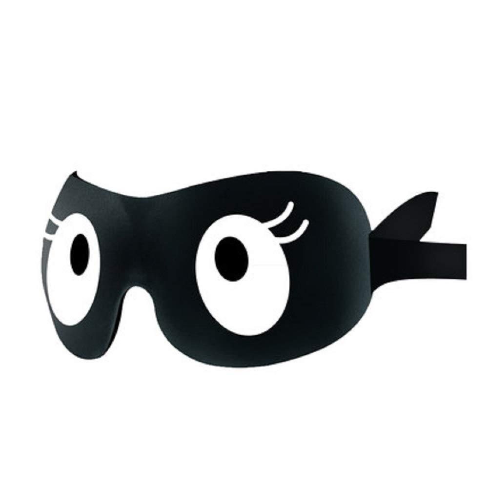 HhGold Masque de Nuit en Coton à mémoire de Forme 3D Comafortable à Contour léger avec Bouchons d'oreille (coloré : Noir)