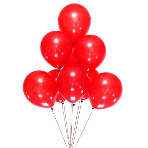 AZOWA 100 Pcs Red Latex Balloons 12 Inch Party Balloons for Wedding Baby Shower Birthday Party Decorations